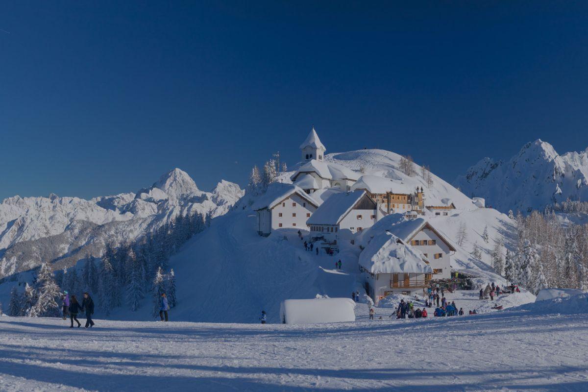 Vista del monte Lussari